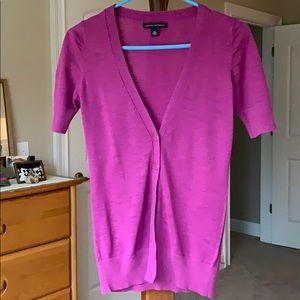 Banana Republic Short Sleeve Sweater Deep Pink EUC
